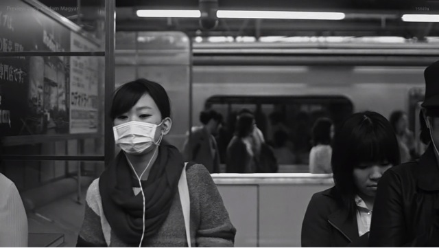Super slow motion at shinjuku station