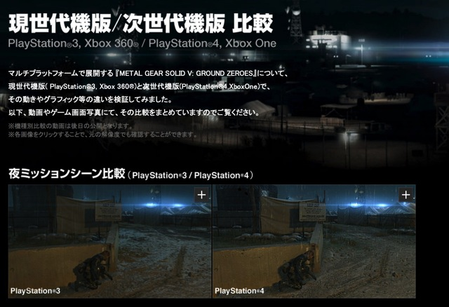 Metal gear solid v ground zero compare game machine