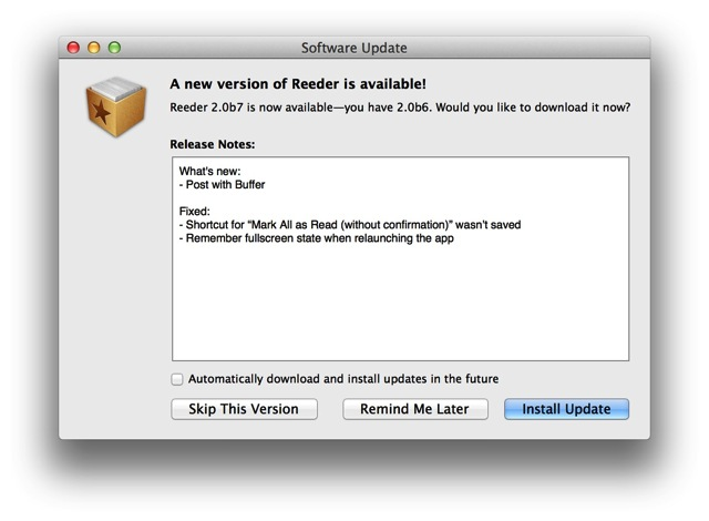 Reeder for mac 2 0b7 01