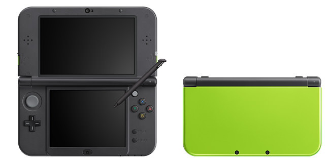 Nintendo 3ds ll lime black and pink white 2
