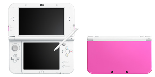 Nintendo 3ds ll lime black and pink white 3