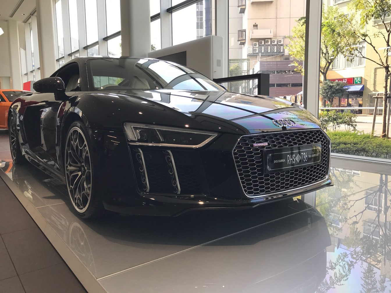 Kingsglaive final fantasy xv audi r8 demonstration press report 1