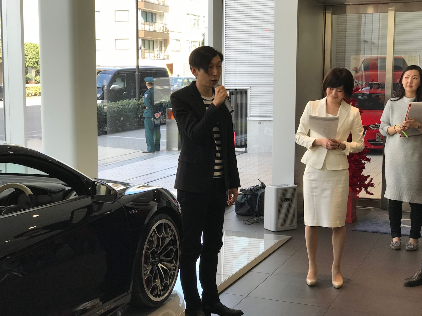 Kingsglaive final fantasy xv audi r8 demonstration press report 25