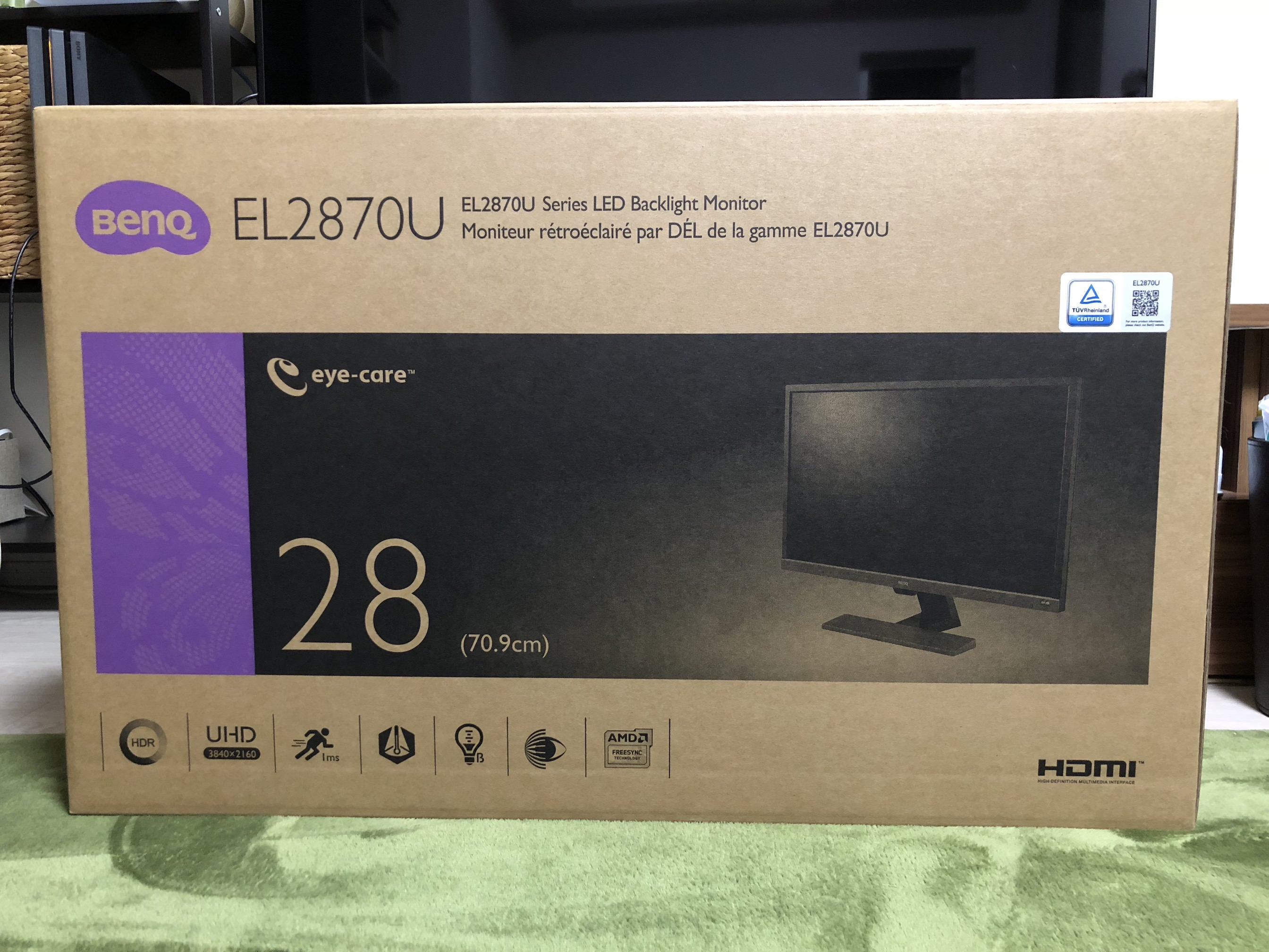 Benq el2870u first impression 2